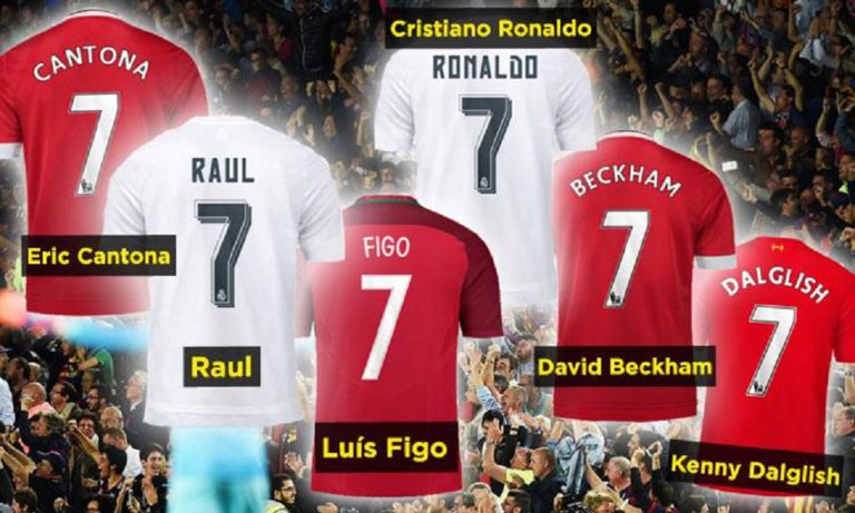 Top 10 Players Ever to Wear Number 7
